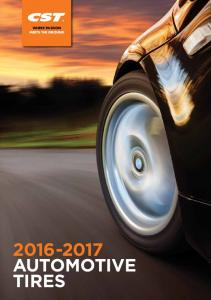 WHERE PASSION MEETS THE GROUND AUTOMOTIVE TIRES