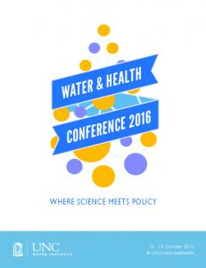 WHERE SCIENCE MEETS POLICY