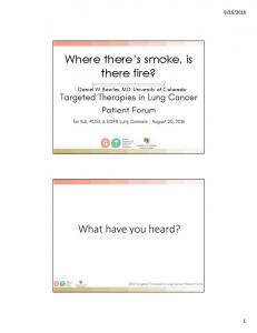 Where there s smoke, is there fire?