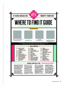 WHERE TO FIND IT GUIDE