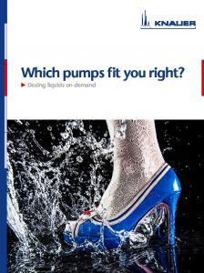 Which pumps fit you right? 2 Dosing liquids on demand
