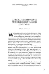 While religious liberty has always been a part of the