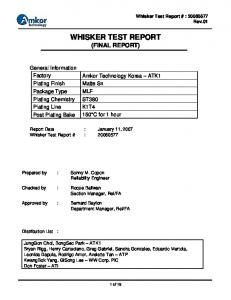 WHISKER TEST REPORT (FINAL REPORT)