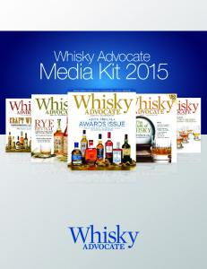 Whisky Advocate. Media Kit 2015