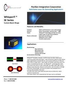WhisperIT SE Series Custom Beam Shape