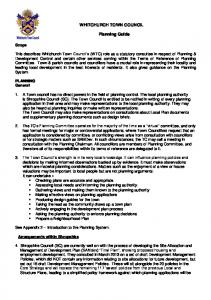 WHITCHURCH TOWN COUNCIL. Planning Guide