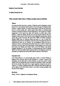 White Australia s Black History: Writing Australian cultural sensitivities
