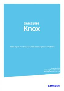 White Paper: An Overview of the Samsung Knox TM Platform