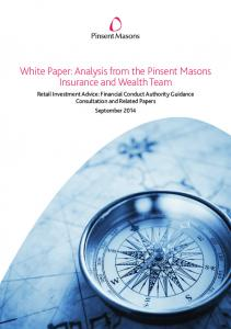 White Paper: Analysis from the Pinsent Masons Insurance and Wealth Team