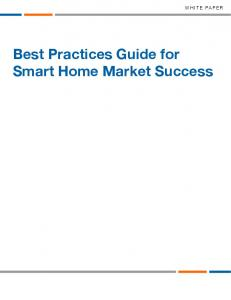 WHITE PAPER. Best Practices Guide for Smart Home Market Success