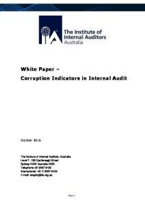 White Paper Corruption Indicators in Internal Audit