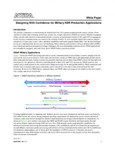 White Paper Designing With Confidence for Military SDR Production Applications