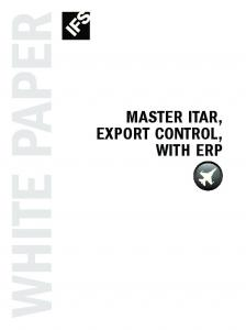 White paper. Export Control, with erp