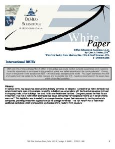 White. Paper. International REITs