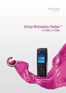 White paper January Sony Ericsson Cedar J108i, J108a
