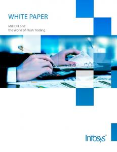 White paper. MiFID II and the World of Flash Trading