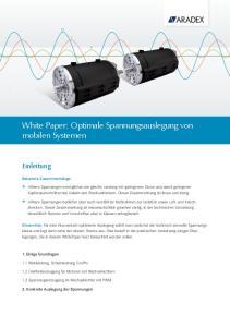 White Paper: Optimale Spannungsauslegung von mobilen Systemen