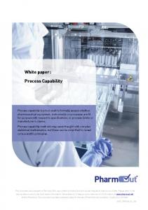 White paper: Process Capability