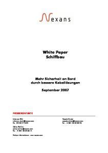 White Paper Schiffbau