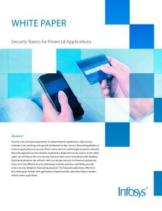 White paper. Security Basics for Financial Applications. Abstract