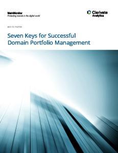 WHITE PAPER. Seven Keys for Successful Domain Portfolio Management