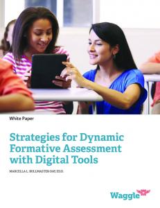 White Paper Strategies for Dynamic Formative Assessment with Digital Tools