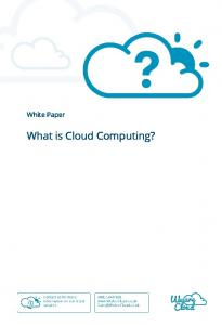 White Paper. What is Cloud Computing?