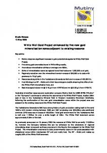 White Well Gold Project enhanced by five new gold mineralisation zones adjacent to existing resource