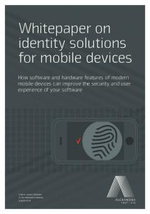 Whitepaper on identity solutions for mobile devices