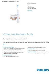 Whiter, healthier teeth for life