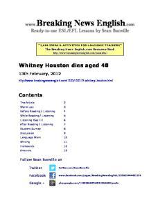 Whitney Houston dies aged 48