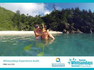Whitsunday Experience Development Audit. Mark Olsen EarthCheck
