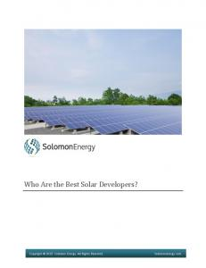 Who Are the Best Solar Developers?