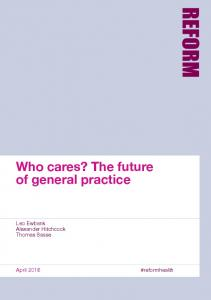 Who cares? The future of general practice