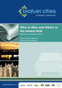 Who-is-Who-and-Where in the biofuel field