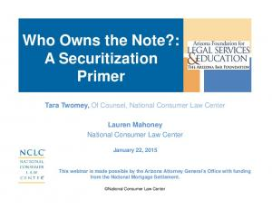 Who Owns the Note?: A Securitization Primer