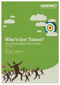 Who s Got Talent? The Great Global Talent Hunt