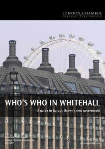 WHO S WHO IN WHITEHALL A