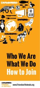 Who We Are What We Do How to Join