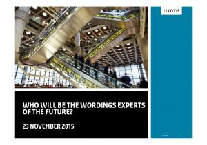 who will be the wordings experts of the future?