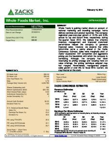 Whole Foods Market, Inc