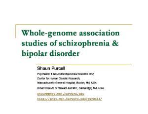 Whole-genome association studies of schizophrenia & bipolar disorder