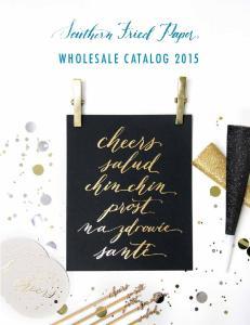 WHOLESALE CATALOG 2015