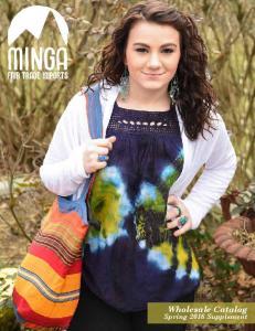 Wholesale Catalog. Spring 2016 Supplement