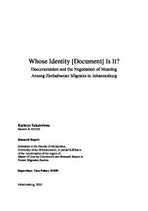 Whose Identity [Document] Is It?