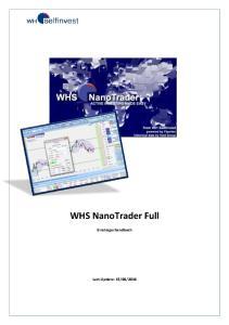 WHS NanoTrader Full. Einsteigerhandbuch