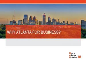 WHY ATLANTA FOR BUSINESS?