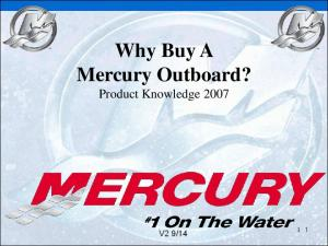 Why Buy A Mercury Outboard? Product Knowledge 2007