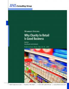 Why Charity In Retail Is Good Business