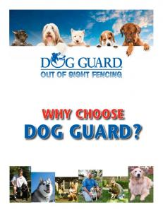 WHY CHOOSE DOG GUARD?
